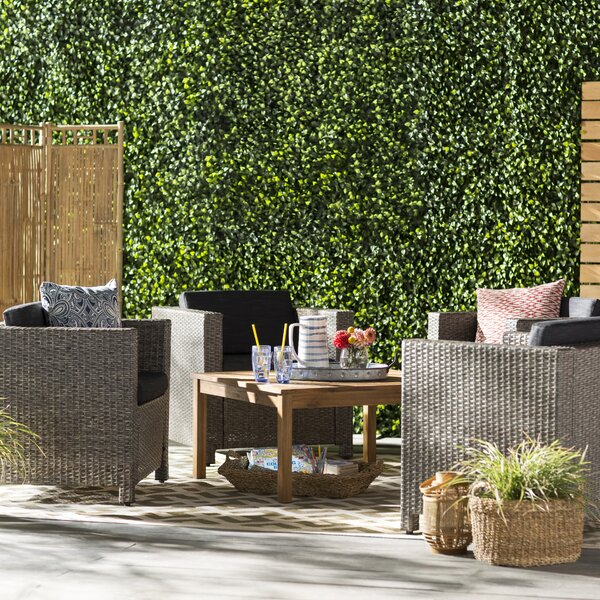 Furst 5 Piece Conversation Set with Cushions by Wade Logan