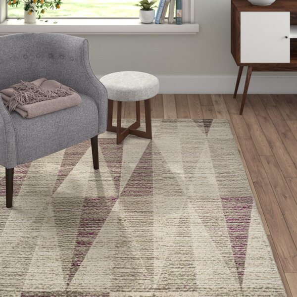 Marnell Light Gray/Eggplant Area Rug by Langley Street
