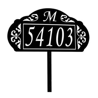 Address America Le Paris Garden 2-Line Lawn Address Sign Customize: Yes