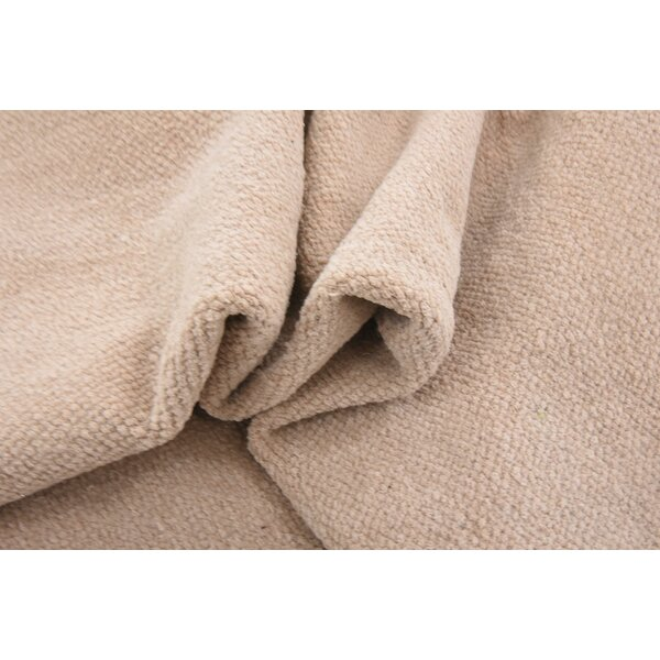 Shakia Hand woven Wool Beige Area Rug by Williston Forge