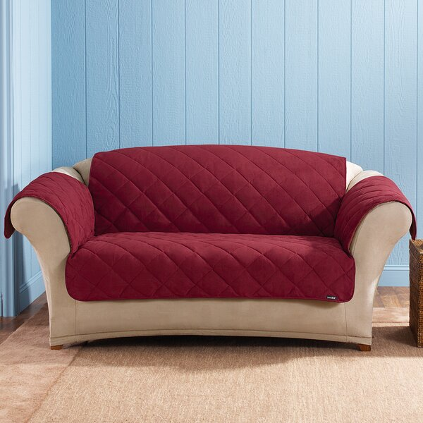 Soft Suede Box Cushion Loveseat Slipcover By Sure Fit