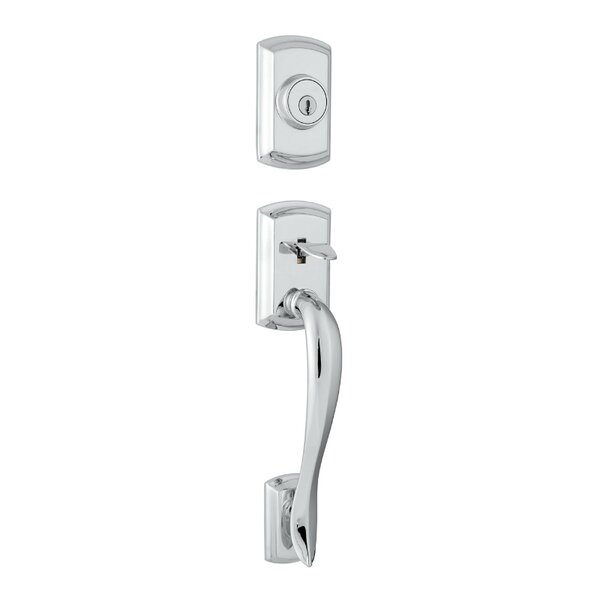 Avalon Single Cylinder Entrance Handleset with Smartkey, Exterior Handle Only by Kwikset