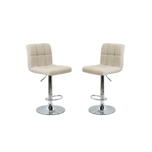 Arocho Adjustable Height Swivel Bar Stool (Set of 2) by Orren Ellis