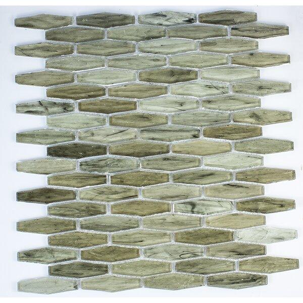 Esagono 0.75 x 2.75 Glass Mosaic Tile in Tawny by Byzantin Mosaic