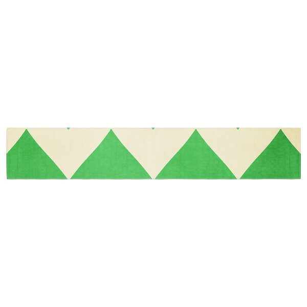 Catherine McDonald Granny Smith Chevron Table Runner by East Urban Home