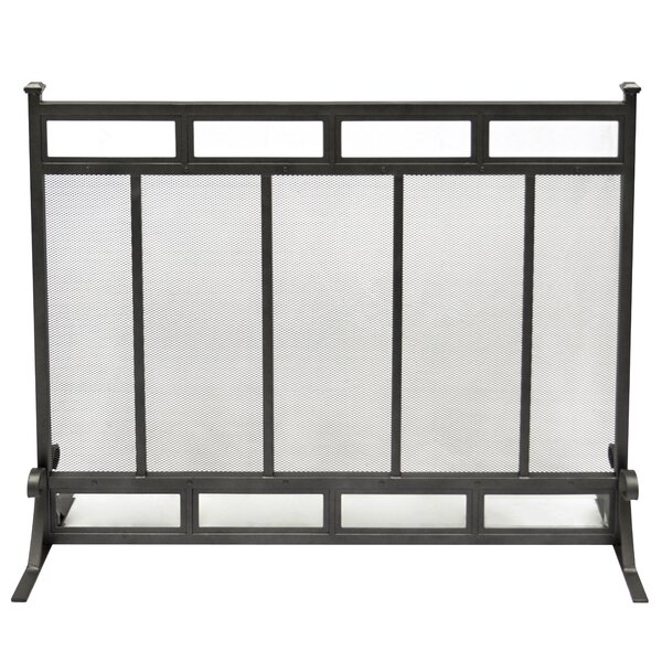 Atticus Single Panel Steel Fireplace Screen By Pleasant Hearth