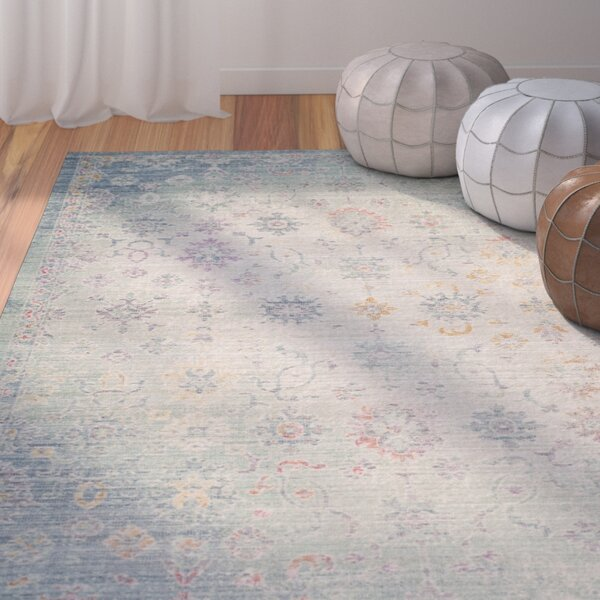 Chauncey Seafoam Area Rug by Bungalow Rose