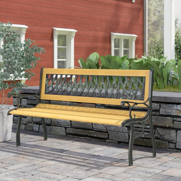 Boswell Teak Garden Bench by Andover Mills