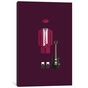'Famous Musical Costumes Series: Angus Young' Graphic Art Print on Canvas by East Urban Home