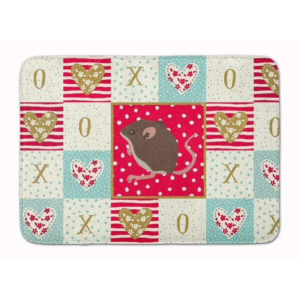 Pernille Baby Mouse Love Memory Foam Kitchen Mat