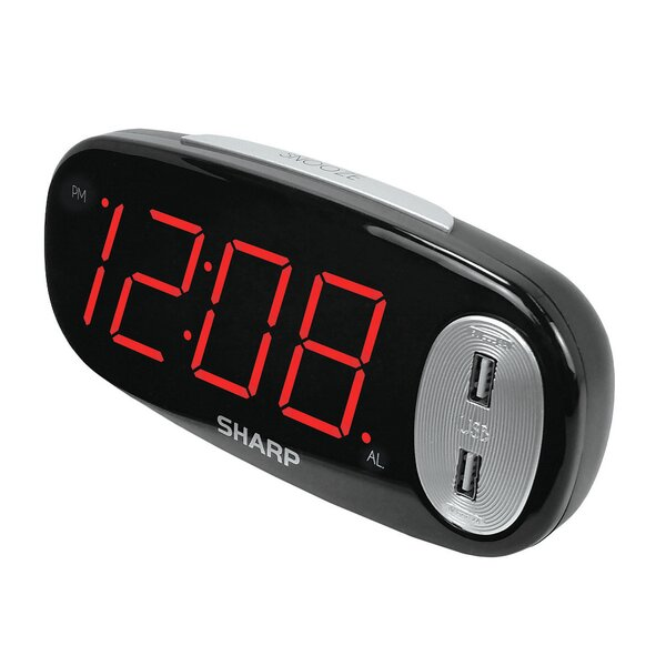Digital USB Charging Tabletop Clock by Symple Stuff