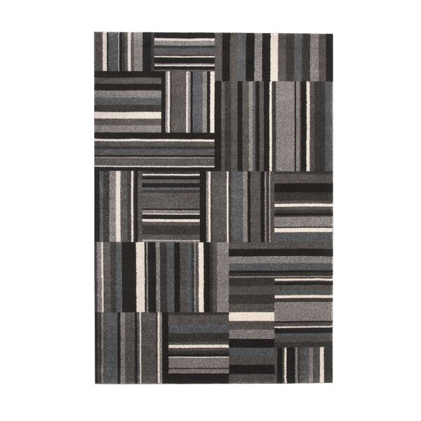 Brissette Black/Gray Area Rug by Ivy Bronx