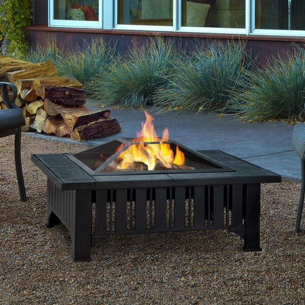 Lafayette Steel Wood Burning Fire Pit Table by Real Flame