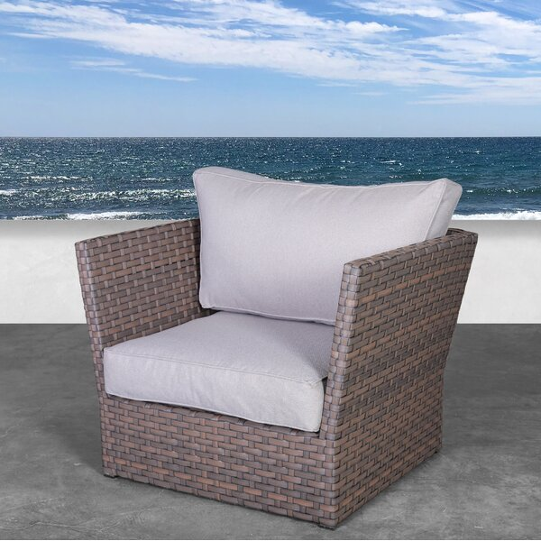 Kinley Patio Chair with Cushions by Highland Dunes
