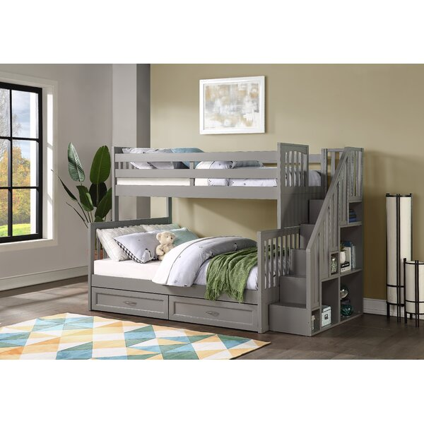 Helman Twin over Full Bunk Bed with Drawers Shelves and Bookcase by Harriet Bee