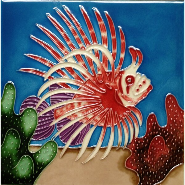 Lion Fish Tile Wall Decor by Continental Art Center