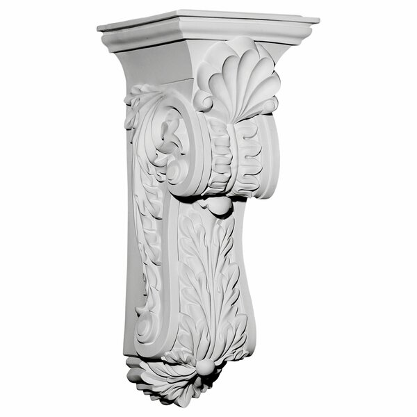 Scroll Leaf 25 1/2H x 10 3/8W x 11 5/8D Corbel by Ekena Millwork