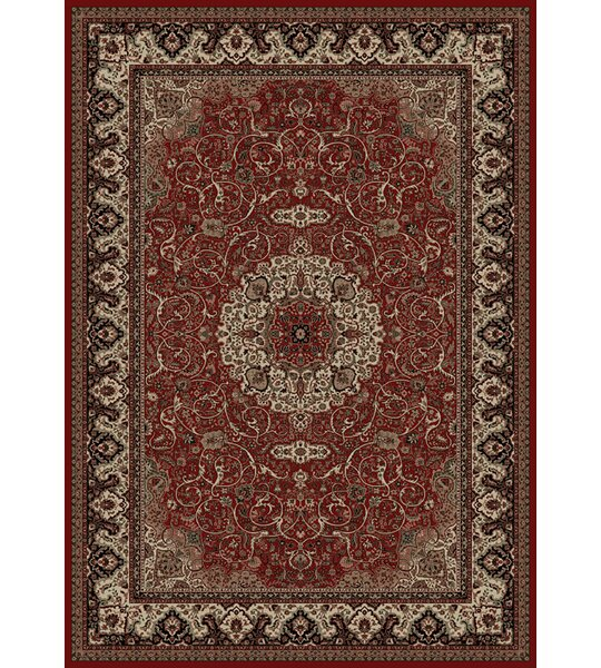 Persian Red Classics Oriental Isfahan Area Rug by The Conestoga Trading Co.
