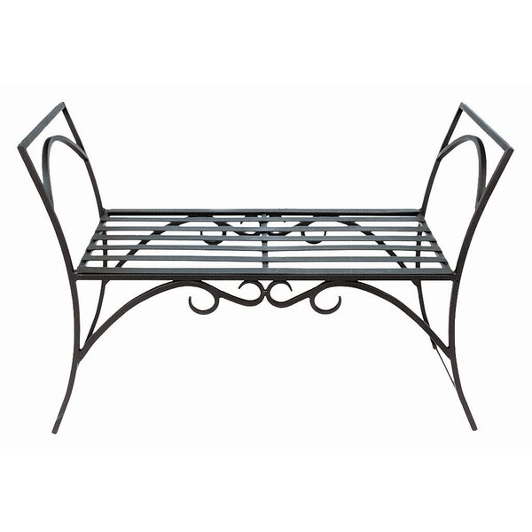 Arona Wrought Iron Garden Bench by August Grove