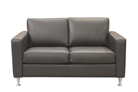 Mei Leather Loveseat by 17 Stories