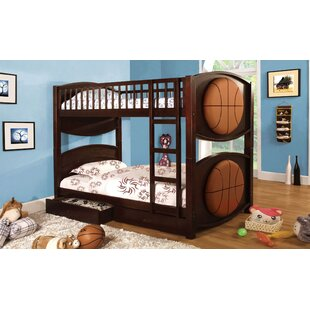 Heckson Twin over Twin Bunk Bed with Drawer by Zoomie Kids