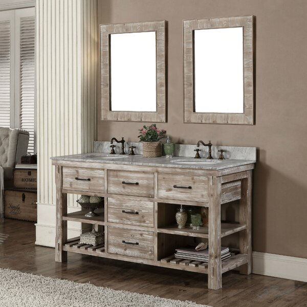 Clemmie 61 Double Bathroom Vanity Set by Laurel Foundry Modern Farmhouse