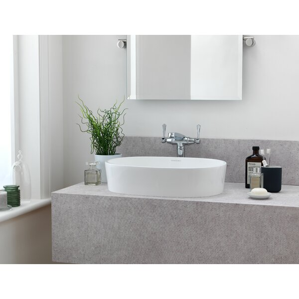 Ios Matte White Oval Vessel Bathroom Sink
