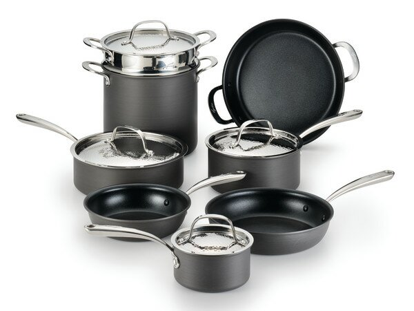 Nera  8 Piece Non-Stick Stainless steel Cookware Set by Lagostina