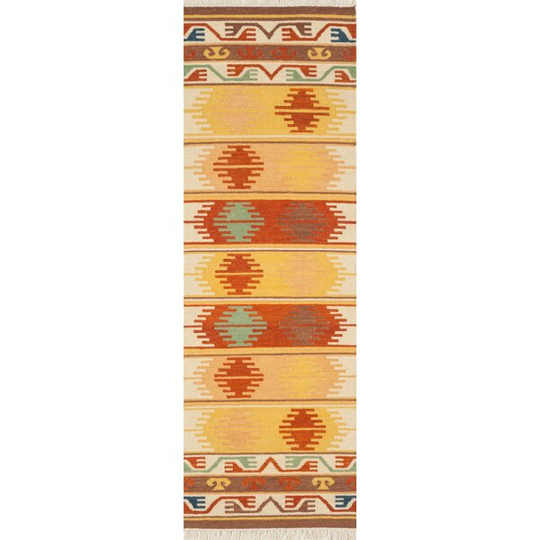 Lodge Hand-Woven Yellow Area Rug by Continental Rug Company