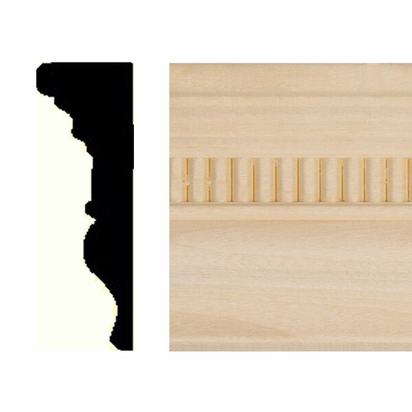 7/8 in. x 2-5/8 in. x 8 ft. Hardwood Emboss Chair Rail Moulding by Manor House