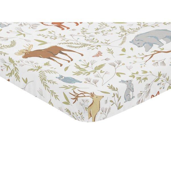 Woodland Toile Animal Print Fitted Mini Crib Sheet by Sweet Jojo Designs