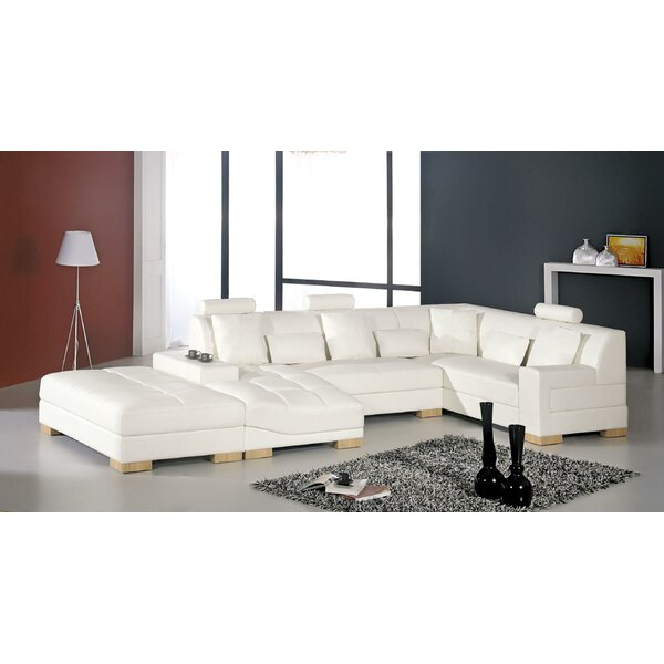 Burkey Sectional with Ottoman by Orren Ellis