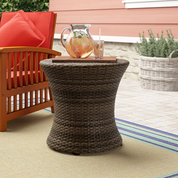 Haddon Plastic Side Table by Bay Isle Home