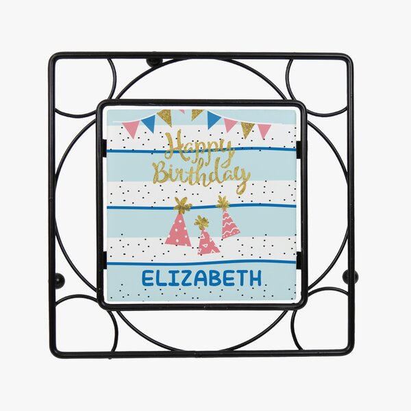 Personalized Happy Birthday Trivet by Monogramonline Inc.