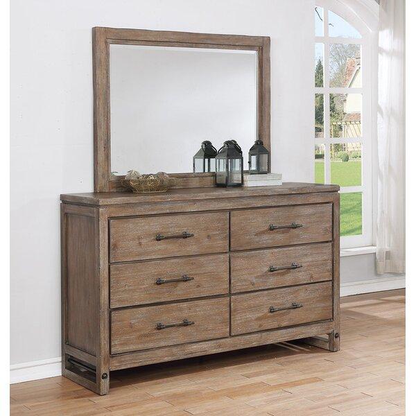 Martelli Round Rock 6 Drawer Double Dresser with Mirror by Gracie Oaks