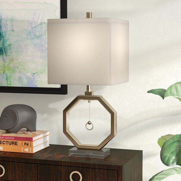 Leila Octagonal 38 Table Lamp by Ivy Bronx