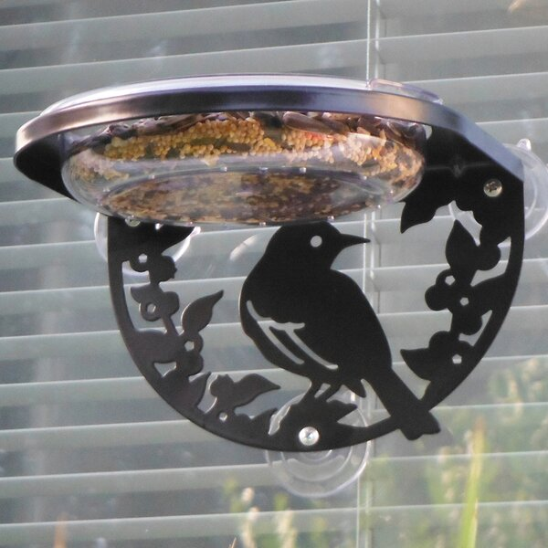 Songbird Window Tray Bird Feeder by Droll Yankees