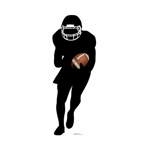 Football Player Running Back Silhouette Standup by Advanced Graphics