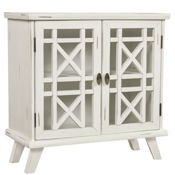 Wood Door Accent Cabinet With Adjustable Shelf Storage Cabinet For Hallway Dining Console Table (Antique White) By August Grove®