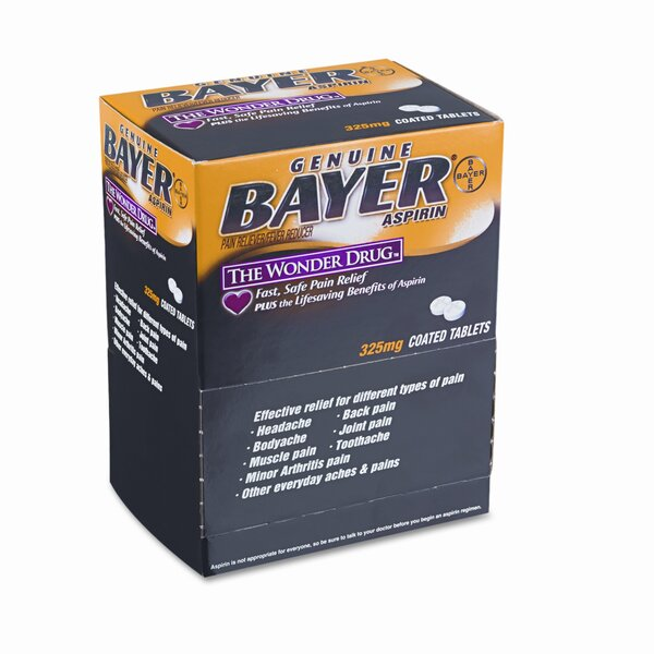 Bayer Aspirin Pain Reliever, 50 Two-Packs per Box by Acme United Corporation
