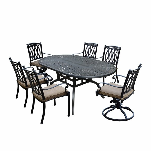 Otsego 7 Piece Aluminum Outdoor/Indoor Dining Set with Cushions by Darby Home Co