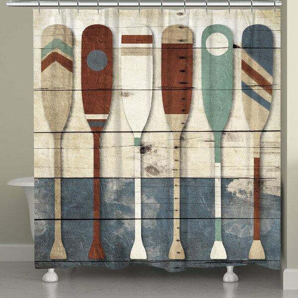 Elwyn Playful Oars Shower Curtain by Millwood Pines
