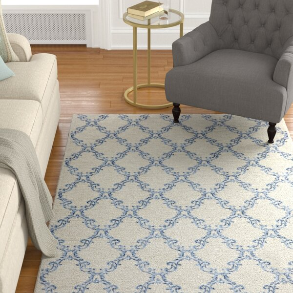 Gages Mirabel Sand/Blue Area Rug by Alcott Hill