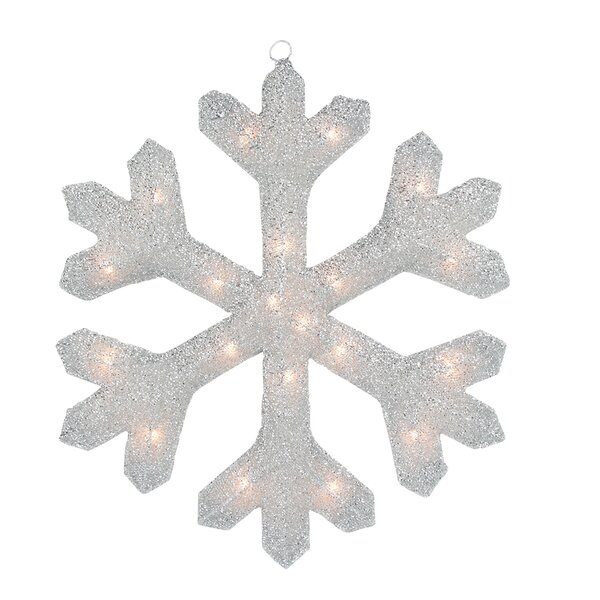 Tinsel Snowflake Christmas Window Decoration by Northlight Seasonal