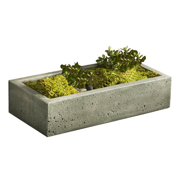 Scribner Cast Stone Planter Box by Greyleigh