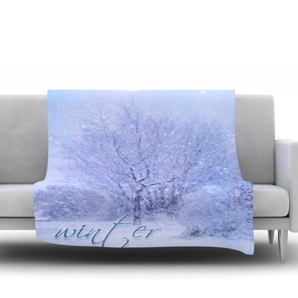 Winter Tree by Alison Coxon Fleece Blanket by East Urban Home