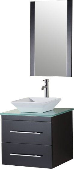 Newcastle 24 Single Bathroom Vanity Set with Mirror by Brayden Studio