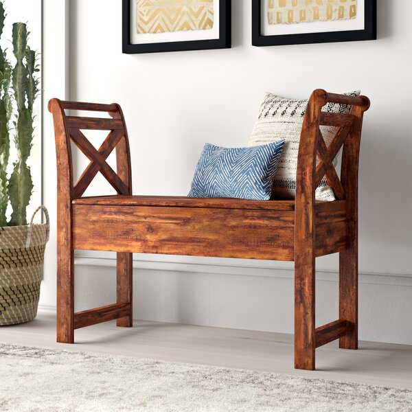 Kylan Wood Storage Bench by Mistana