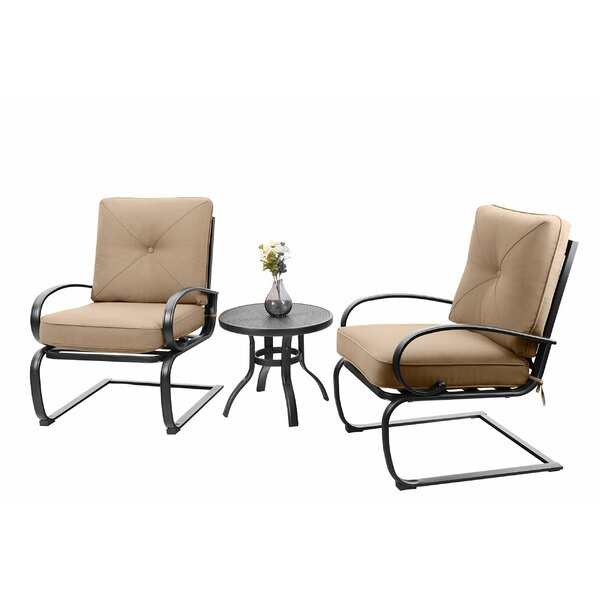 Stiner 3 Piece Bistro Set With Cushions By Charlton Home