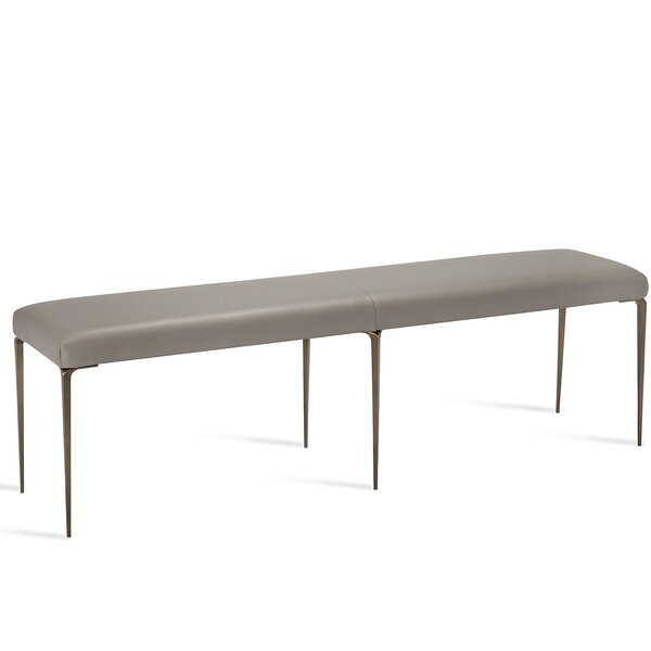 Stiletto Leather Bench by Interlude